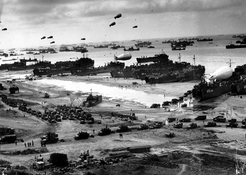 Historic photo of Normandy invasion