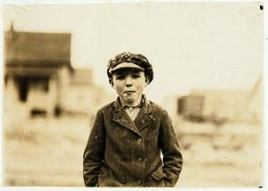 Historic photo of Irish immigrant boy